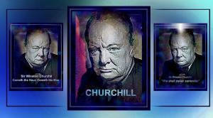 Artist Hartmut Jager Honors Churchill